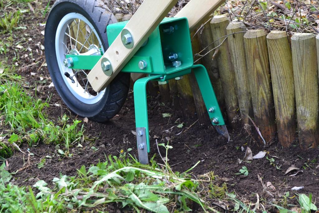 Nekon pyöröharalla on helppo pitää rajausten vieret puhtaana rikoista