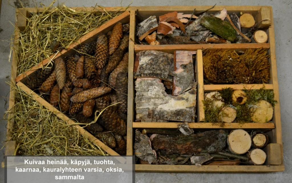 hyönteishotellia täyttämään