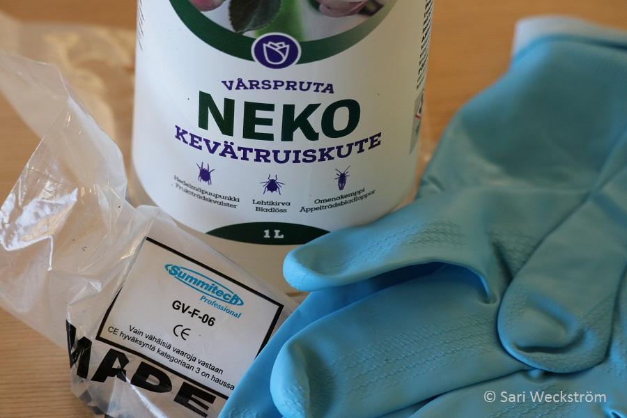 0000 NEKO Kevätruiskute, myrkytyksiin nitriili käsineet